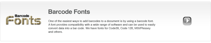 For some barcode types, like Code39 or MSI/Plessey, using a barcode font can be one of the simplest ways to add a barcode to a document.�Computalabel International Ltd. 2013