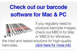 WBC4 and MBC4 barcode software for Windows and Mac OS