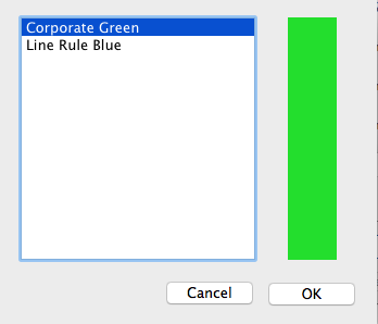 The color imopirt dialog box